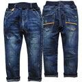Meninos vestuário 6056 das crianças calças de brim calças de brim meninas crianças moda casual calças primavera outono calças muito bom novo