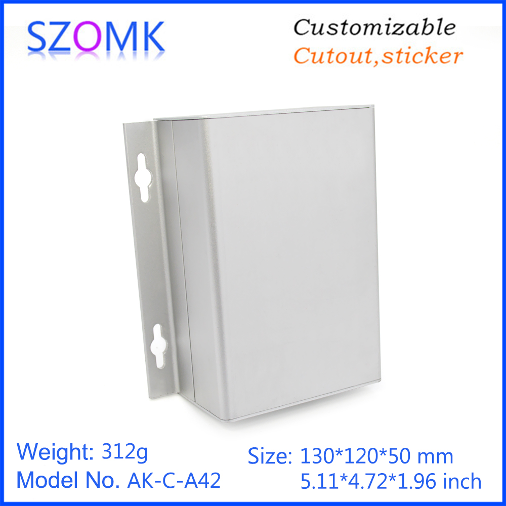 1 piece, 50*120*130mm wall mounting aluminum enclosure box electronics extruded aluminum profile housing for electronic device1 piece, 50*120*130mm wall mounting aluminum enclosure box electronics extruded aluminum profile housing for electronic device