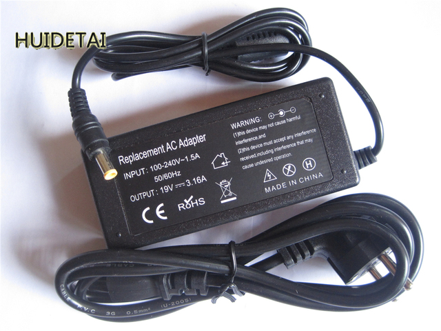 19v 3.16a  AC Power Supply Adapter Charger Cord for  Samsung R45 R50 R510 R519 R530 R60 R60 Plus R710 P26 P27 P28 P28G P29 P30