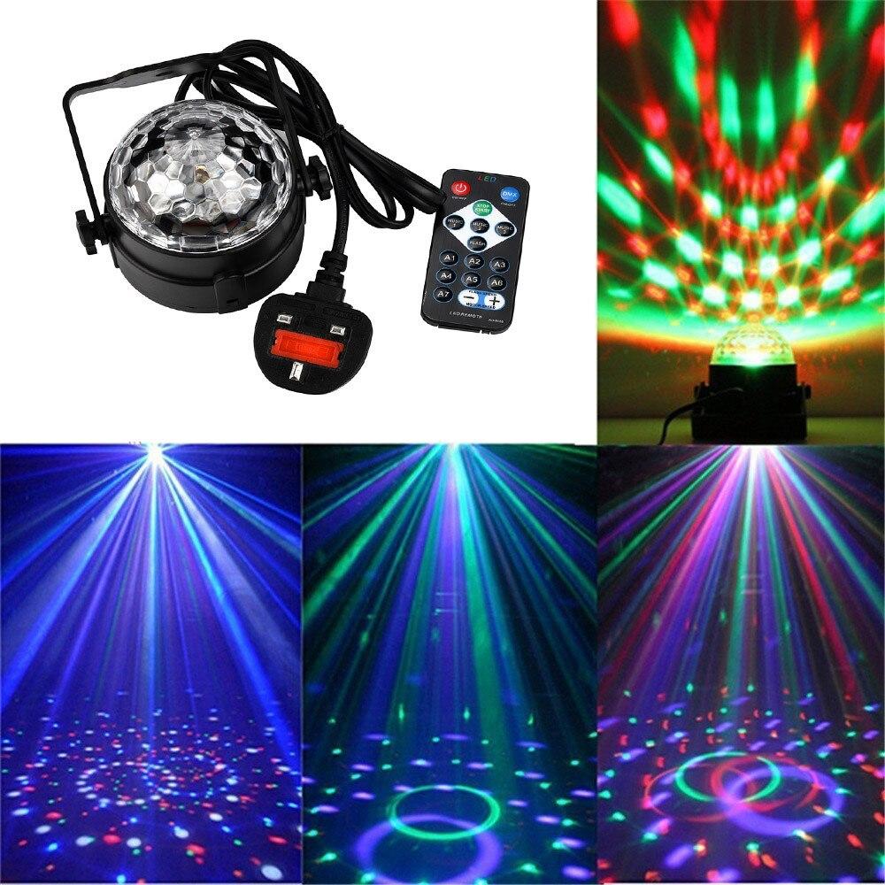 LED Party Light Professional Stage Lighting Disco Magic Ball Lights 7 Colors DJ Sound Activated Strobe Light AU EU US UK plug