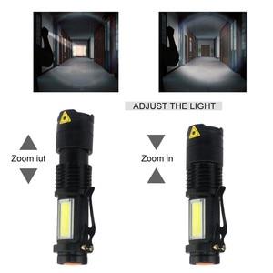 Image 3 - 3800LM XML Q5 + COBแบบพกพาBright Bright LED Handheld LEDไฟฉายปรับโฟกัสซูมMINIไฟฉายใช้แบตเตอรี่AA 14500