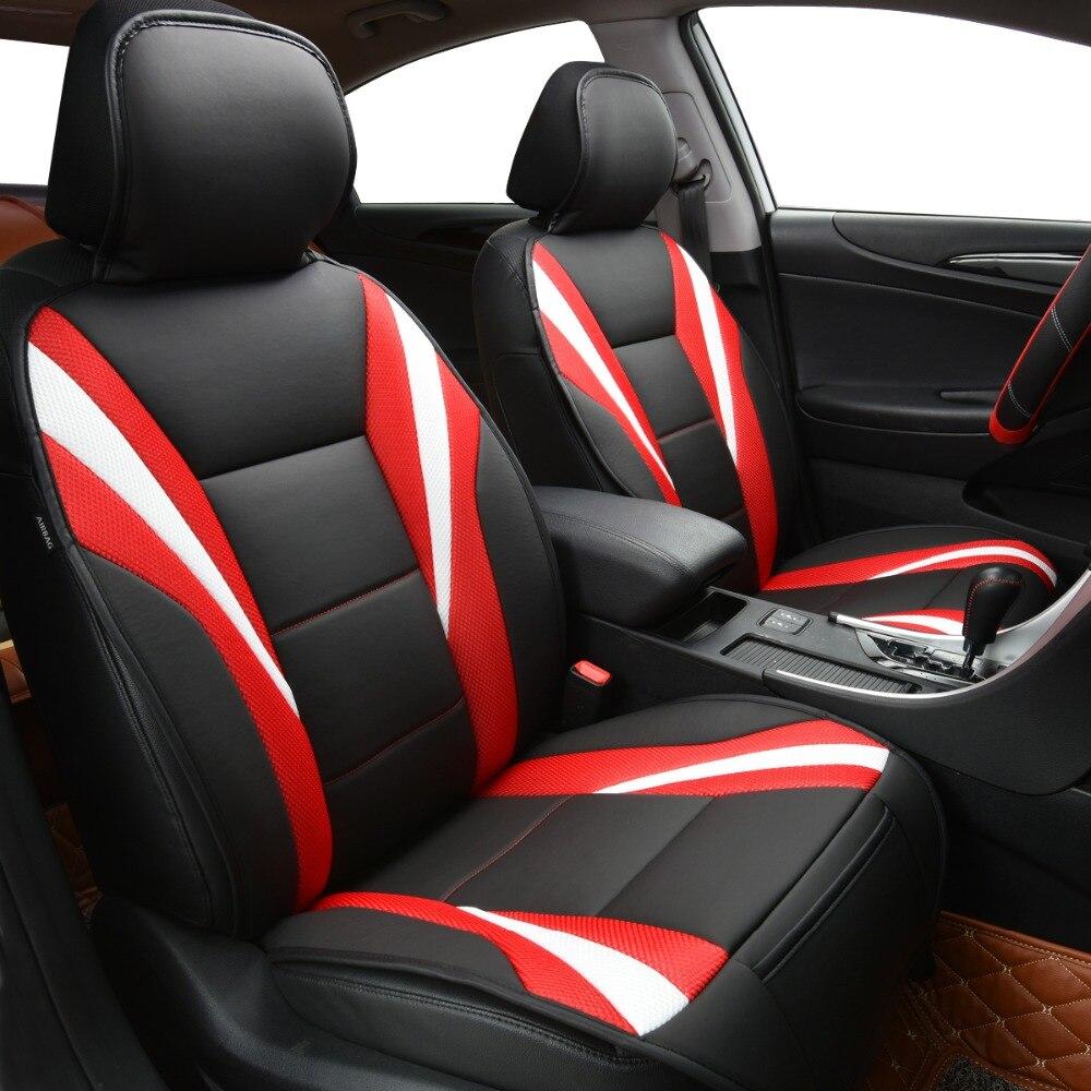 Housses de siège de voiture de luxe pour voiture, couleur rouge bleue, accessoires de voiture pour ford focus peugeot Lada Kalina Renault