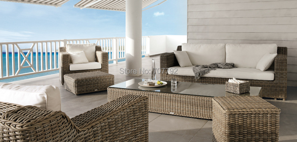 2017 Hot Sale Garden Stackable Brown Rattan Outdoor Dubai Sofa Furniture China