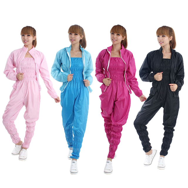 c26cb6fe70 Mujeres aerobic ropa pérdida de peso traje adelgazamiento Pantalones sauna  fitness sauna traje mujer sauna Pantalones