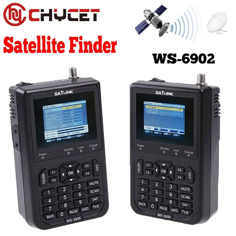 chycet ws 6906 3 5 satlink digital signal satellite meter lcd screen dvb s fta data satellite. Black Bedroom Furniture Sets. Home Design Ideas