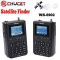 "Chycet ws-6906 3.5 ""satlink señal digital por satélite buscador de medidor pantalla lcd dvb-s fta de datos de satélite para tv av"