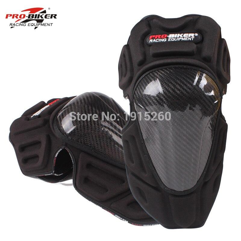 Новый бренд углерода Волокно мотоцикл наколенники Мотокросс по бездорожью гонки колена защитника мотоцикл колено guard Защитное снаряжение