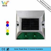 Высококачественный односторонний Солнечный алюминиевый светодиодный дорожный отражатель боковой прогулки Парк двор Ночная лампа ровного света