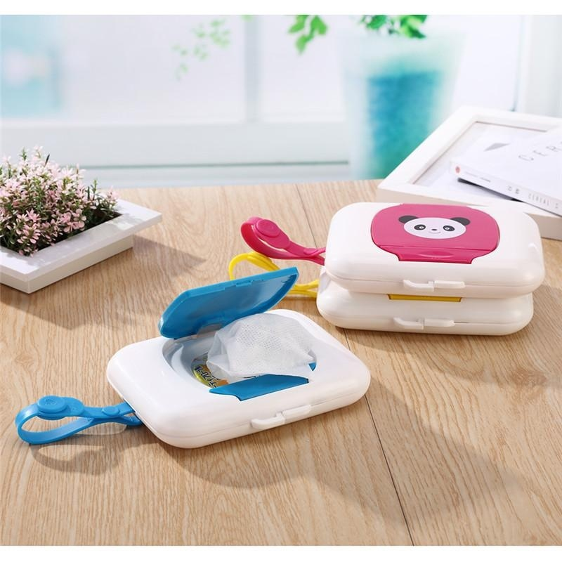 Foldable Wet Tissue Box Plastic Automatic Case Real Tissue Case Baby Wipes Press Pop-up Design Home Tissue Holder Accessories
