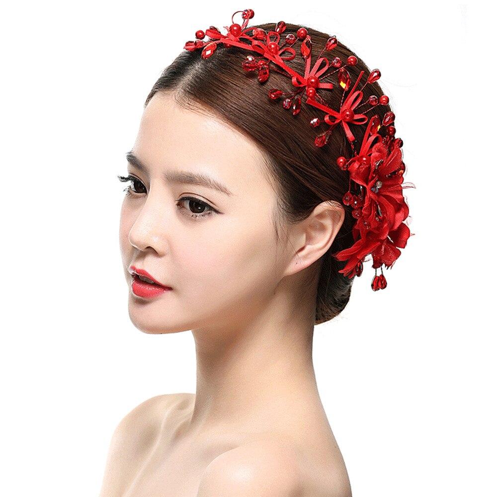Beatiful Bride headband Fashion Pearl Crystal Bride Headdress By ...