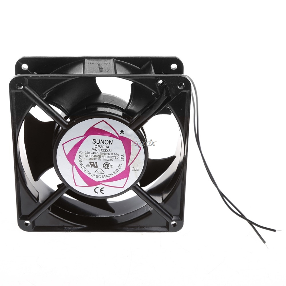DP200A 2123XSL 12038 120mm Sleeve Bearing 220-240V AC 2-Wire Case Cooling Fan Z09 Drop ship