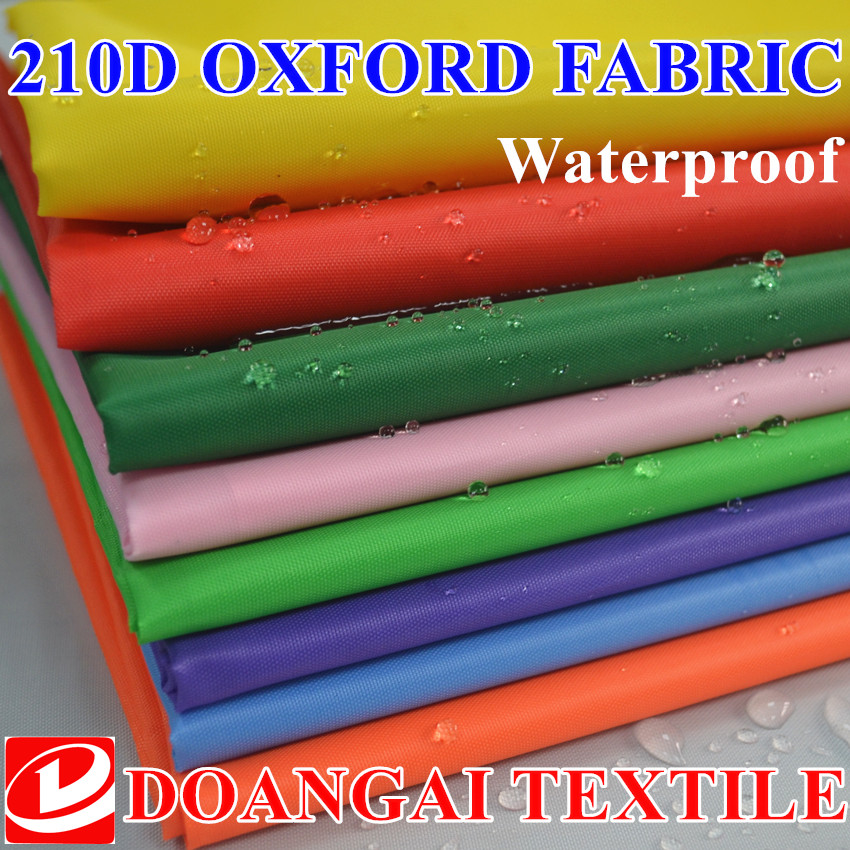 100 * 150 cm tamaño impermeable poliéster oxford fabric.cover cloth.fabric para tienda 210D oxford fabric