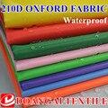 Tamaño de 100*150 cm de poliéster impermeable de la tela de oxford cubierta tela 210D de la tela de oxford