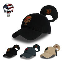 TSNK Men Women Running Cap Hat Military Enthusiasts Amercian Punisher SEAL Team Cotton Hat Adjusted Snapback Baseball Cap