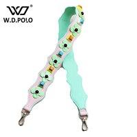WDPOLO Prefall Lucky Flower Women Handbag Strap Easy Chic Lady Shoulder Wide Bag Belts Silver Buckle