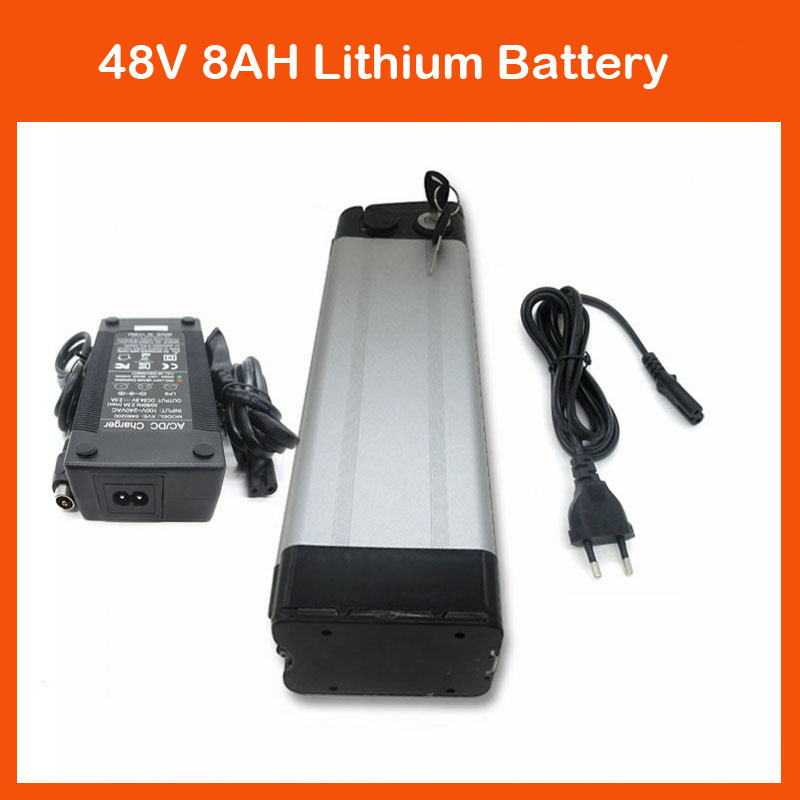 Battery Packs 700w Silver Fish 48v Lithium Battery 48v 10ah Electric Bicycle Battery With Aluminium Case 54.6v 2a Charger 15a Bms