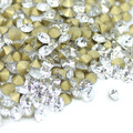 Crystal Clear Color~SS20~SS40 Round Crystal loose Pointback rhinestones,Glass glue on Garment/Nail art Rhinestones