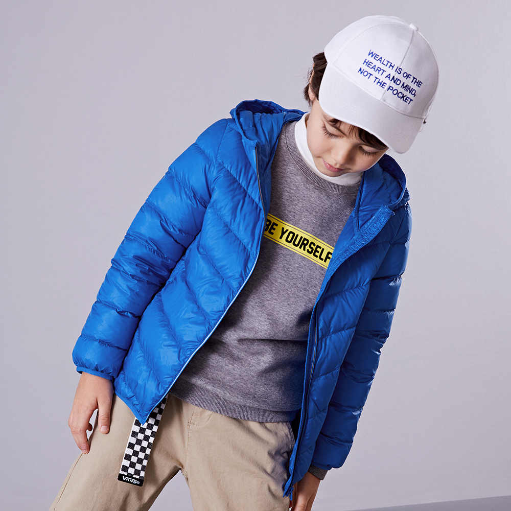Children Boys Down Jacket 2018 New Autumn Winter Child Boys girls Coats Warm solid Short Retro Campus Jacket For Boy Kids