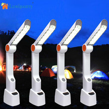 LumiParty Multifunctional Portable LED Desk Lamp Hand Cranking Solar Charging with Phone Charger FM Radio Speaker For Camping