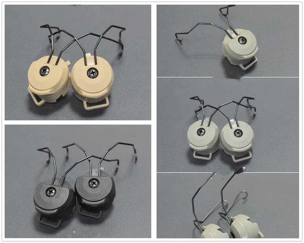 Prix pour Fma Peltor SORDIN casque Ops - Core casque ARC ferroviaire mount Adapter 2 pcs par set noir DE FG casque accessoires