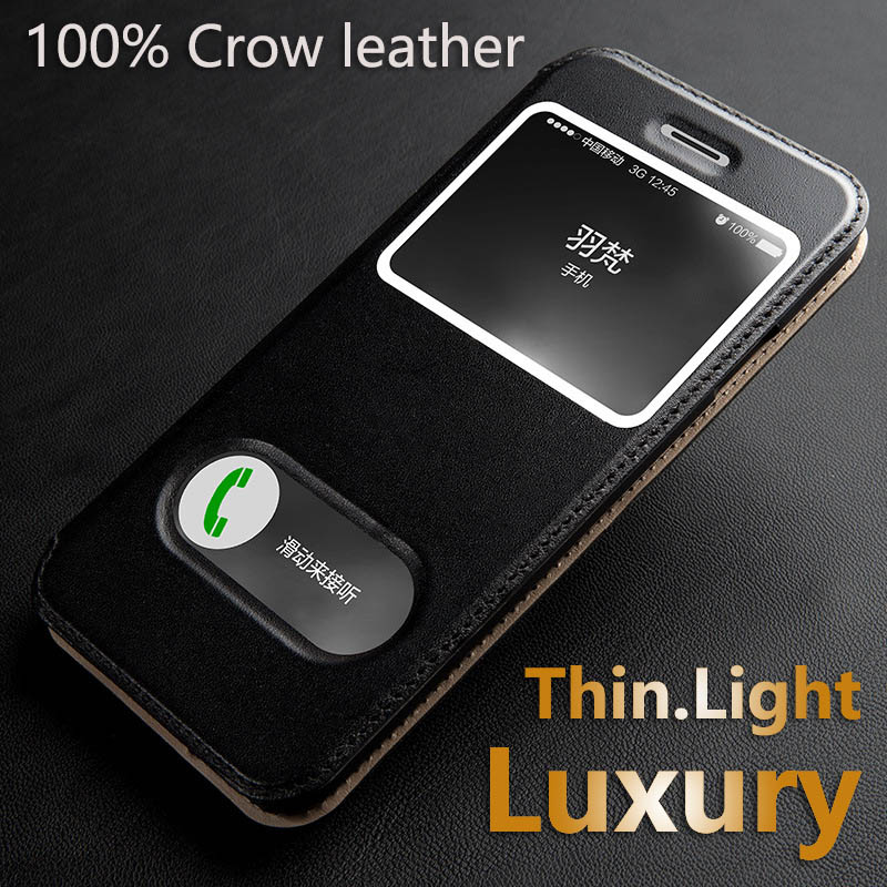 Luxury 100 Cow Leather Case For Apple iphone 5 5s SE 6 6s Plus Protective Magnetic