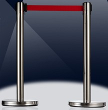 with 3M belt stainless stell railing barrier for security guard area