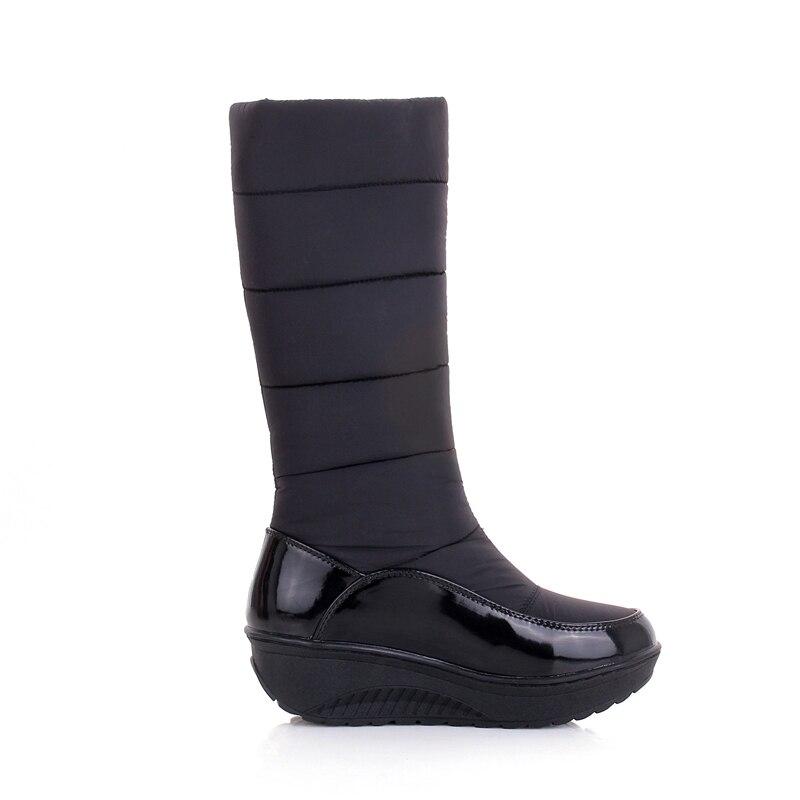 Russie Le Mi Plate Coton Noir Chaud 2018 Bas Strass Bottes Chaussures Garder Neige Vers Hiver Au orange Mode Femme Wetkiss marron mollet D'hiver forme De qRap7Ep