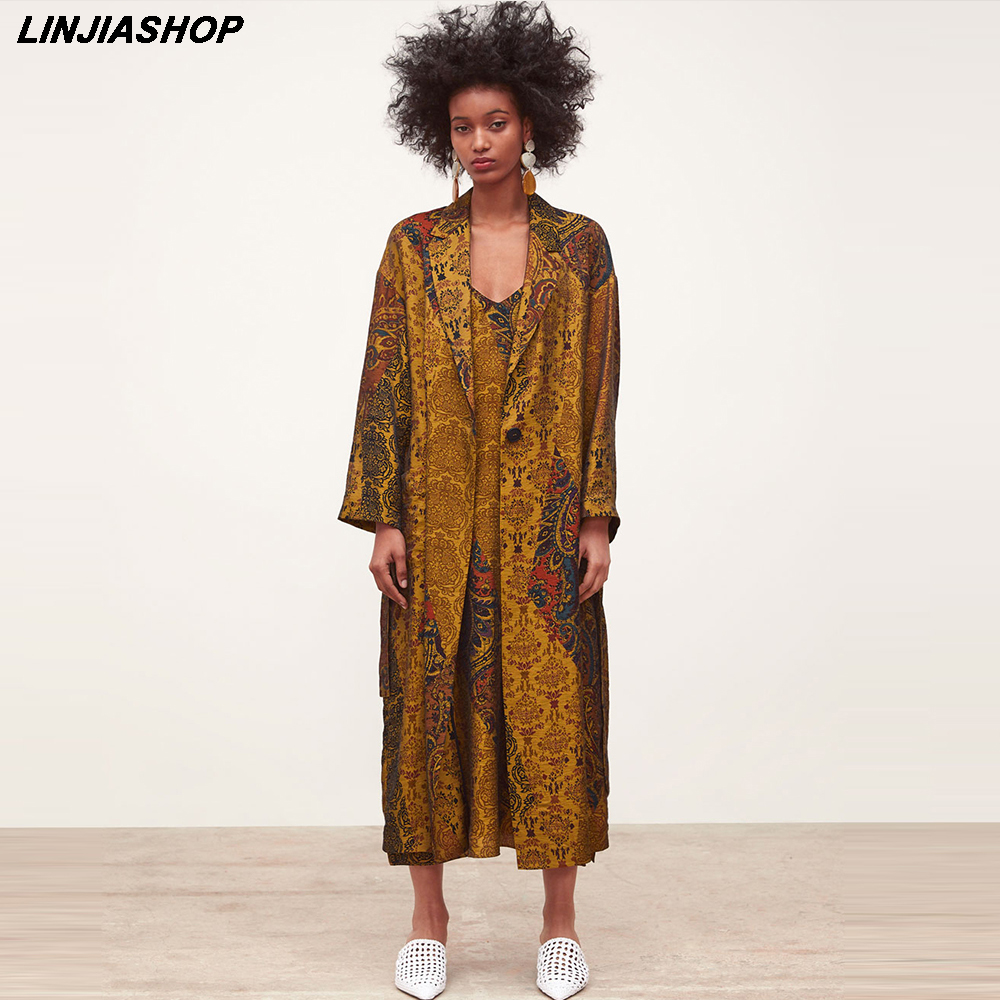 Vintage african coat women full fleeve sashes A line print kimono sashes   trench   long beach summer coat bloggers style vestidos