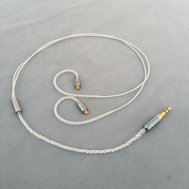 Diy אוזניות חוט קצר כבל 45cm 50cm MMCX ie80 im50 ue900 tf10 A2DC 0.78qdc
