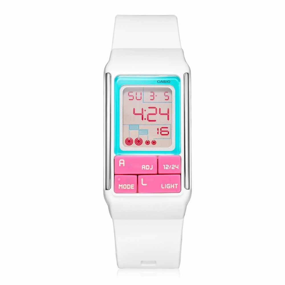 Casio watch 2017 new digital cute Famous Women Wristwatch Female Clock Quartz Watch Fashion Rubber band relogio feminino LDF-51 new fashion unisex women wristwatch quartz watch sports casual silicone reloj gifts relogio feminino clock digital watch orange