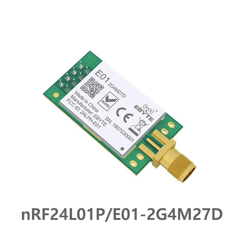 NRF24L01P 2.4GHz 500mW  27dBm Long Distance Ebyte E01-2G4M27D SPI Transceiver NRF24L01 PA LNA Wireless Transmitter And Receiver