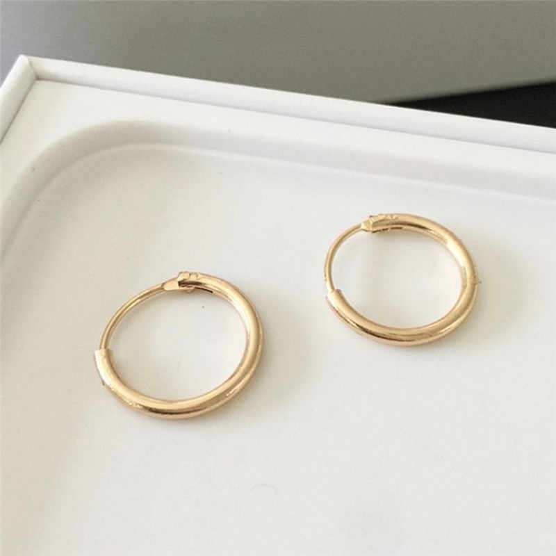 f2383024e78cf Punk Gold Silver Plated Small Hoop Earrings For Women Summer Round ...