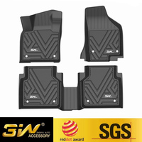 Car floor mats For Volkswagen Tiguan with 3w Customized Special tpe mat,black