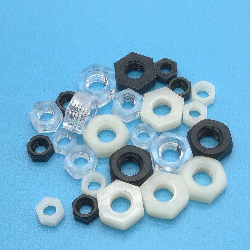 100p M2 M2.5 M3 white Round Nylon Screws Phillips Plastic Round Head Bolt tt