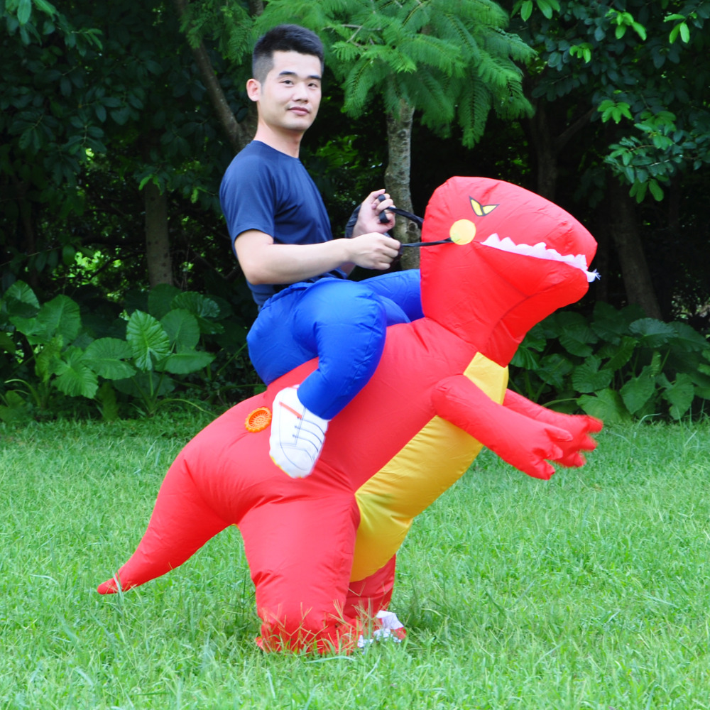 2017 Inflatable Dinosaur Costumes for Adults Kids T Rex Dinosaur Rider Air blown Outfit Men Women Party Halloween Fancy Dress-in Holidays Costumes from ...  sc 1 st  AliExpress.com & 2017 Inflatable Dinosaur Costumes for Adults Kids T Rex Dinosaur ...