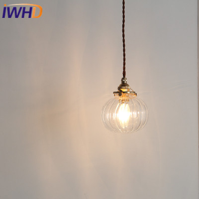 IWHD Nordic Loft Style LED Pendant Lights Vintage Glass Copper Hanglamp Simple Modern Suspension Luminaire Retro Home Lighting iwhd glass lampara vintage pendant light style loft vintage pendant lights living room bae kitchen lamps hanglamp luminaire