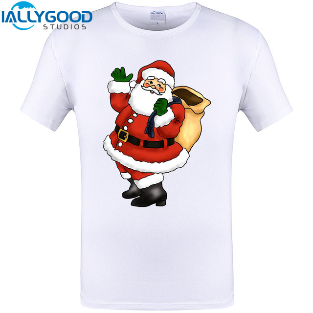 ac42608e1 Dabbing Santa Christmas Funny Design T-Shirt Cool Printed Cotton Tops New  Arrival Men Short Sleeve Plus Size Tee Shirt S-5XL