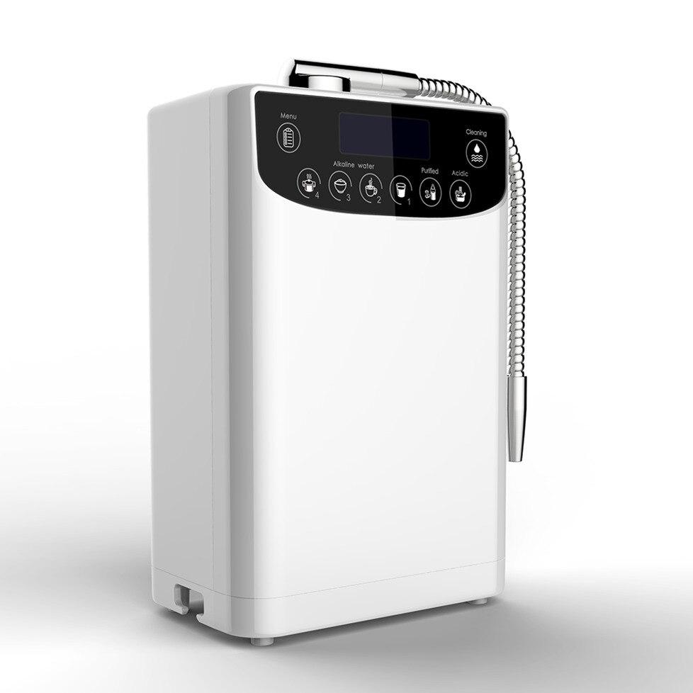 LEVOU Purificador Ionizador De Água Máquina de água Alcalina Ácido PH4.5-10 definição Do Hight Qualidade De Hidrogênio da água