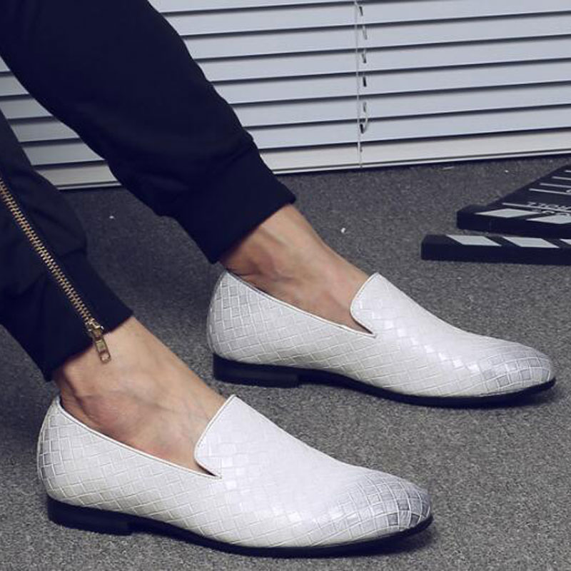 Tresse Cuir white blue Mocassins red Casual De ~ Conduite Marque Tangnest Xmr2818 Chaussures Hommes 2018 47 Appartements Luxe Taille 37 on En Slip Black Richelieus 8xYZwSq