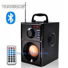 VAENSONG A10 Estéreo Portátil Bluetooth Altavoz 2.1 Subwoofer puede reproducir TF tarjeta y USB y radio FM, así como para la familia viajes