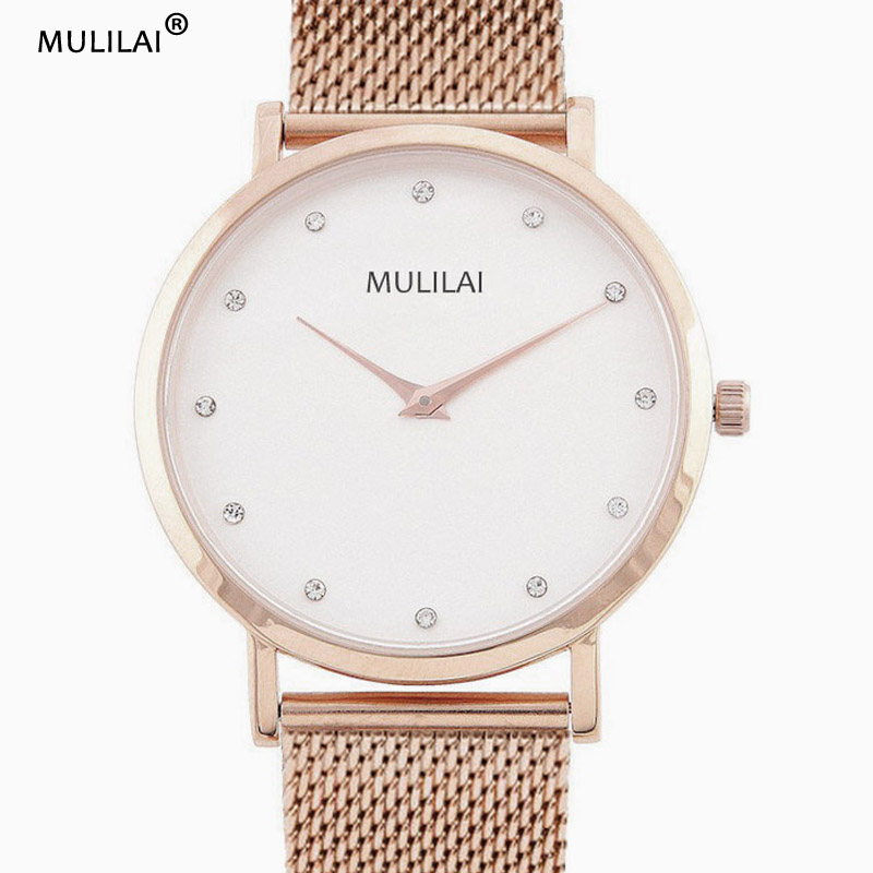 New mulilai Brand Female Stainless Steel Watch Ladies Fashion Casual Watch men Quartz Wrist Women Watches Relogio Feminino Clock brand new relogio feminino date day clock female stainless steel watch ladies fashion casual watch quartz wrist women watches