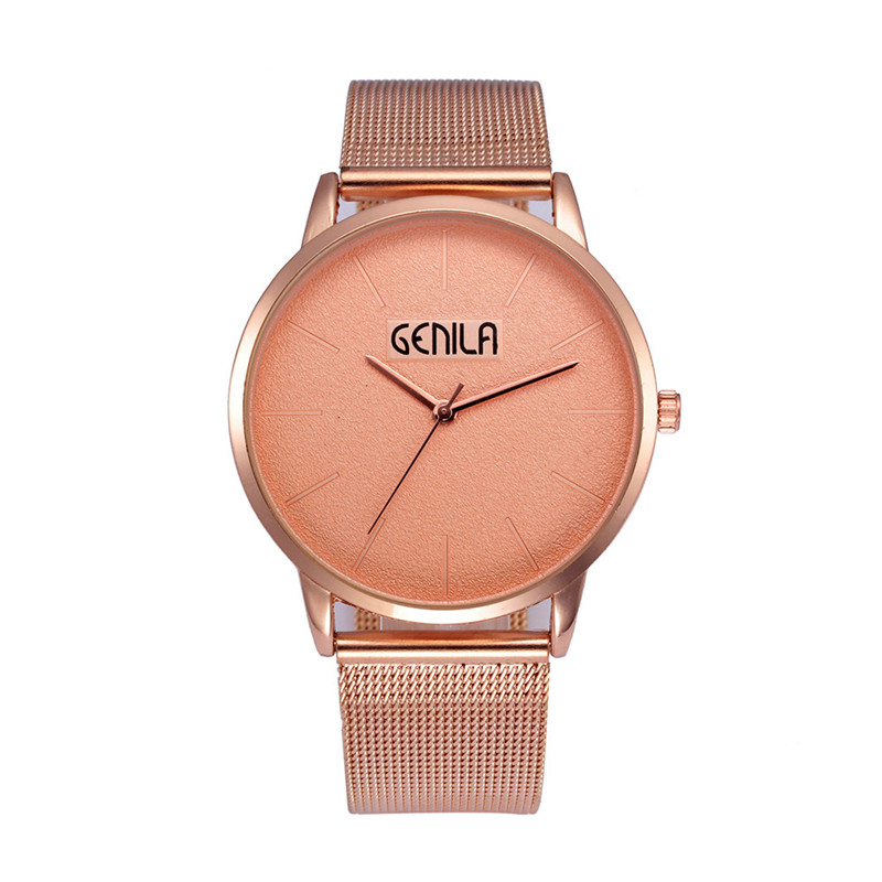 Women Watches Bayan Kol Saati Fashion Rose Gold New Women Watch Stainless Steel Clock Male Quartz Mesh Belt Casual Wristwatch