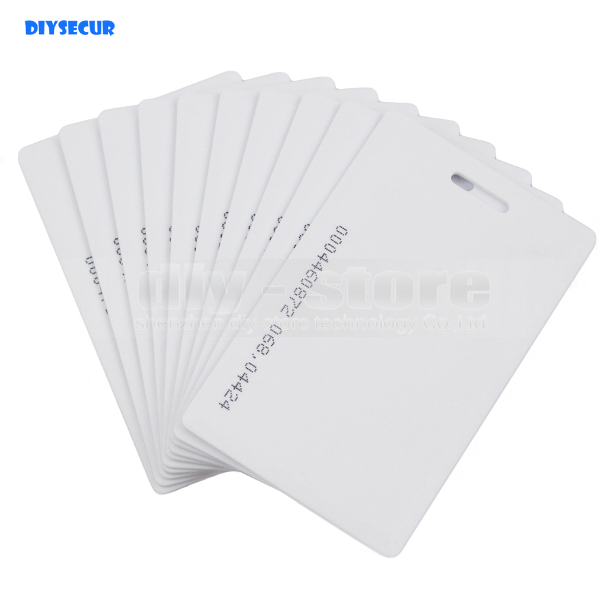 Diysecur 20pcs Lot Proximity 125khz Rfid Id Card 1 8mm For