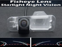 цена на For Kia K2 Rio Sedan 2011 2012 2013 2014 2015 Fisheye Lens Trajectory Tracks 1080P Car Rear view Camera Reverse Parking Camera