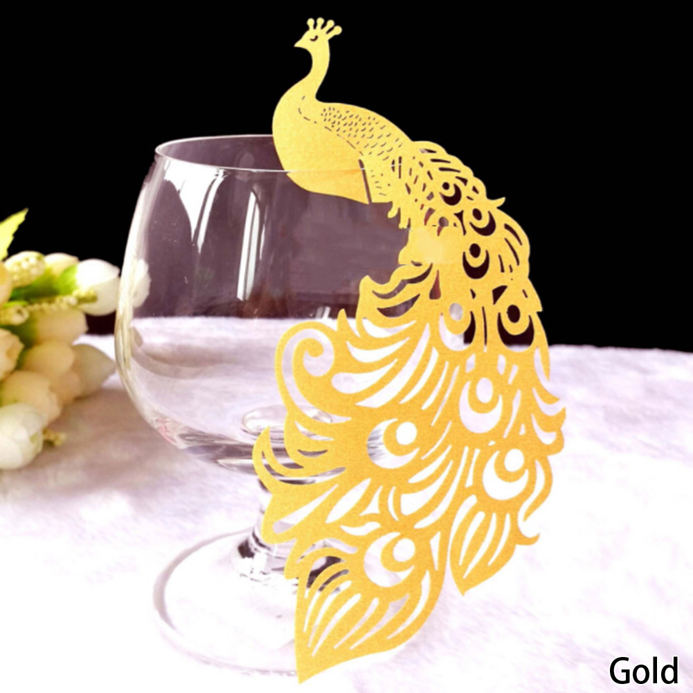 50/pcs Laser Cut Paper Place Card Escort Card Cup Card Wine Glass Card Wedding Decoration gifts wedding favors New Arrival 2017 into a desert place paper only