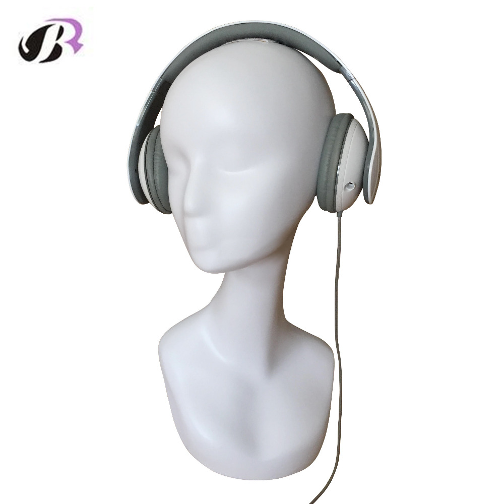 Free Shipping Standing Stable Female Plastic Mannequin Manikin Head Model Wigs Hair Glasses Necklace Scalf Headset Display new 2pcs female right left vivid foot mannequin jewerly display model art sketch