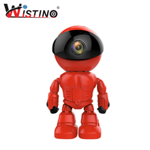 hot deal buy 960p red robot ip camera wifi baby monitor 1.3mp wireless cctv ir leds remote home smart monitoring tf card indoor surveillance