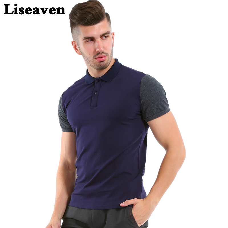 Liseaven 2017 Mens Fashion   Polo   Shirt Brand High Quality Short Sleeve   Polos   Solid Brand   Polo   Shirt Camisa   Polo   Masculina