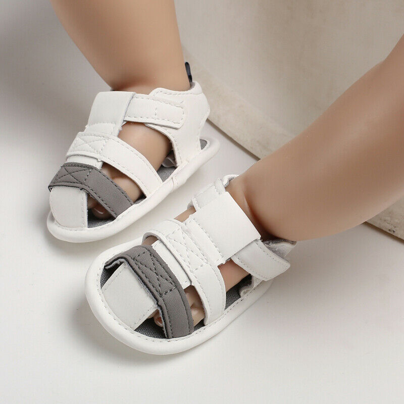 2019 PU Leather Newborn Baby Shoes Moccasins Child Summer Boys White Fashion Sneakers Infant Shoes 0-18 Month Baby Sandals
