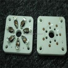 2PCS 7Pin Tube Sockets Ceramic Base Applicable 813 FU-13 4B27 5-125B 8001 Tube Ceramic Electron tube Tube Sockets Free Shipping